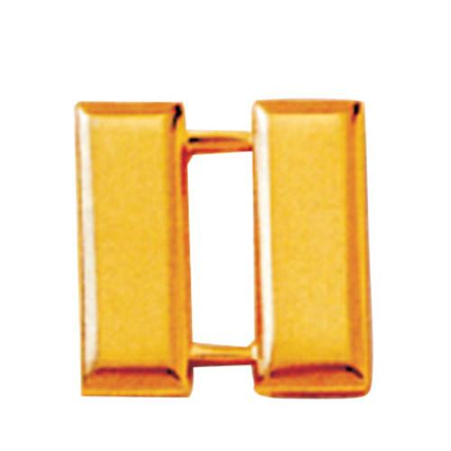 Emblem Collar Insignia - Small Captains Bars