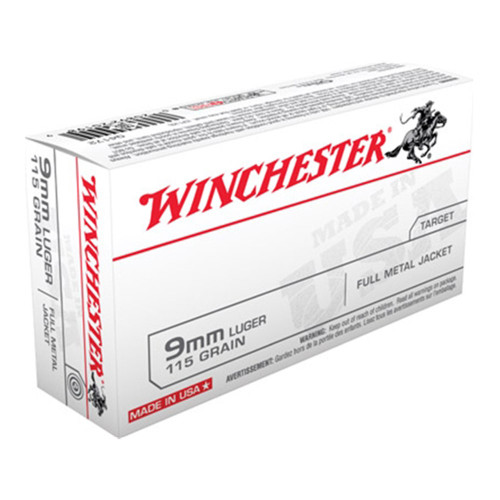 Winchester 9mm 115gr. Full Metal Jacket