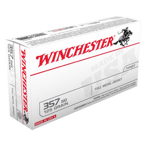 Winchester .357 Sig 125gr Full Metal Jacket