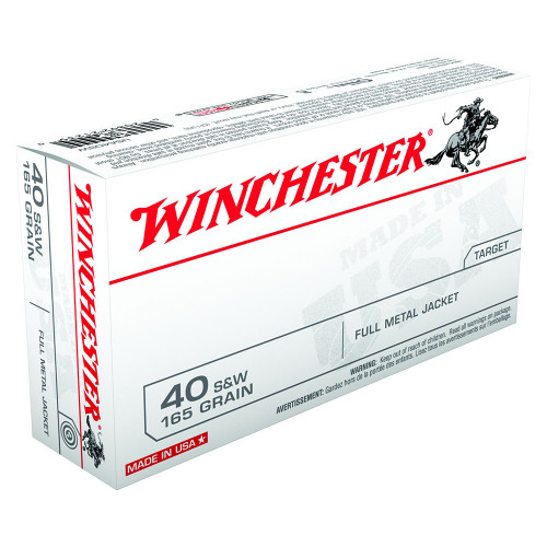 Winchester .40 165gr. Flat Nose