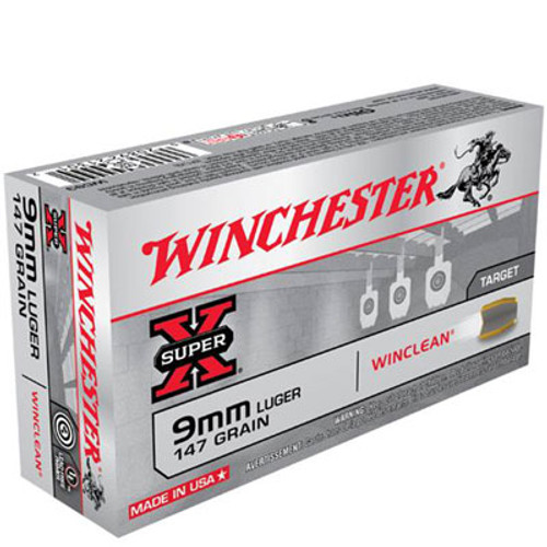 Winchester 9mm Luger 147 Grain Brass Enclosed