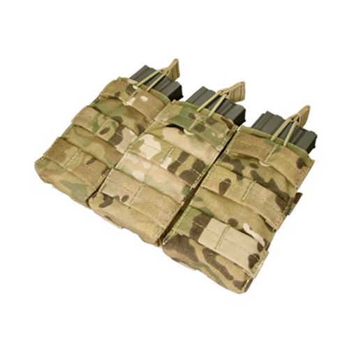 Condor Triple Open Top M4 Mag Pouch - Multicam