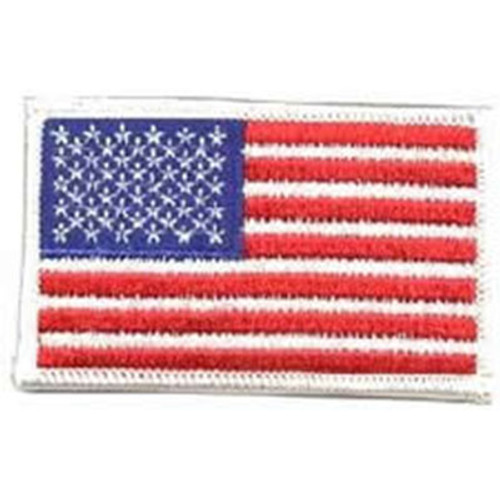 Emblem Flag Patch w/White Border