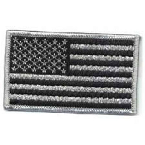 Emblem Flag Patch - Silver Grey & Black