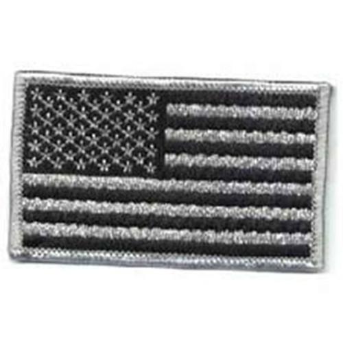 Emblem Flag Patch - Silver Grey & Black