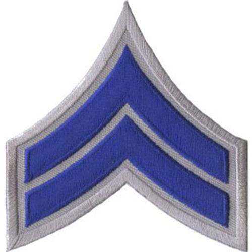 Premier Emblem Corporal Chevron - Royal Blue/Gray
