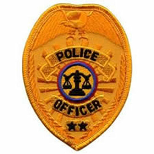 Emblem Police Officer Badge Patch