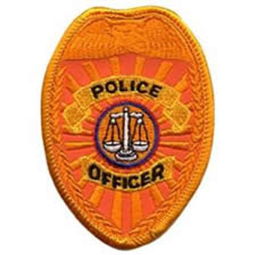 Emblem Police Officer Badge Patch - Reflective