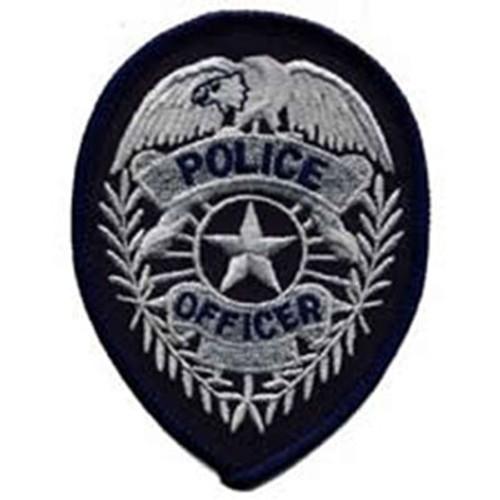 Emblem Police Officer Badge Patch w/Star