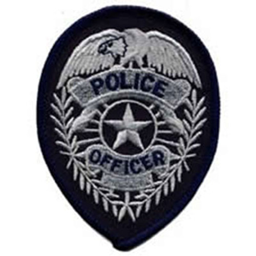 Emblem Police Officer Badge Patch w/Star
