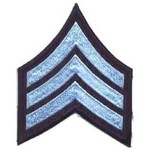 Emblem Chevrons - Light Blue on Navy