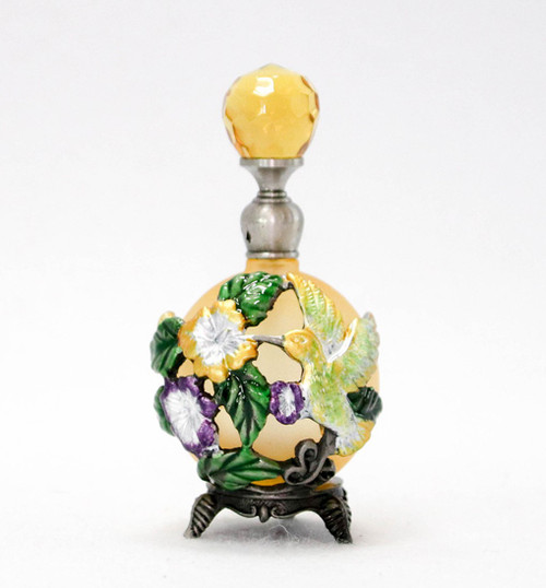 PB-Humming Bird Perfume Bottle (yellow)