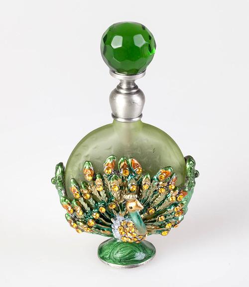 PB-Green Peacock Perfume Bottle