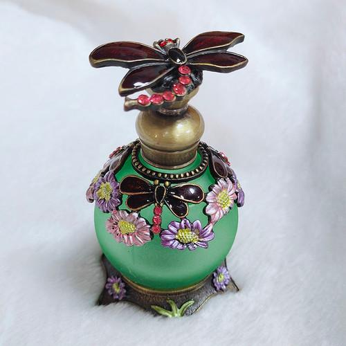 PB-Green Dragonfly Perfume Bottle