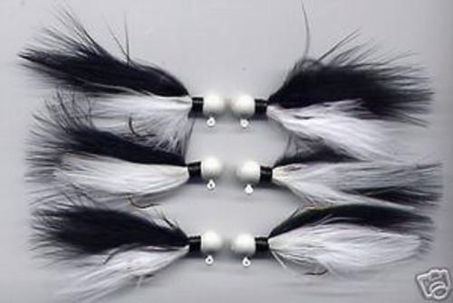 Marabou Jig Black/White V V