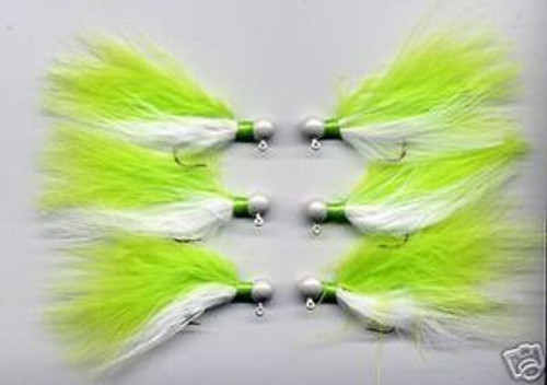 Marabou Jigs Chartreuse Crappie Z