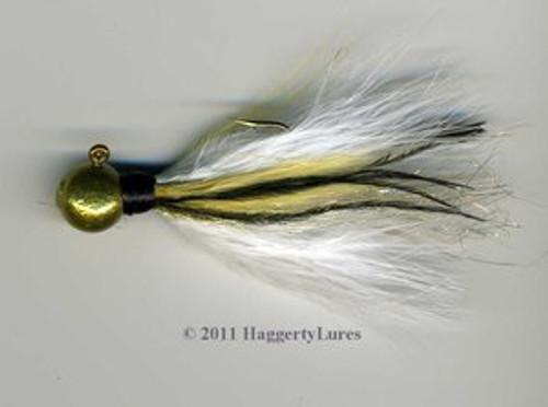 Gold Calico marabou jig