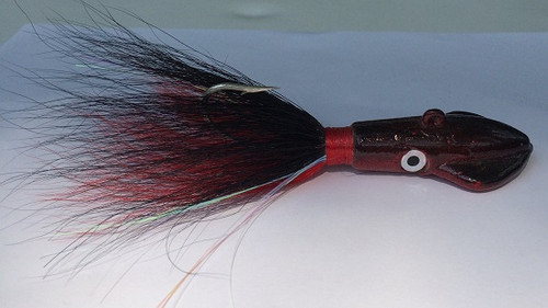 Black and Red Squid Bucktail Jig