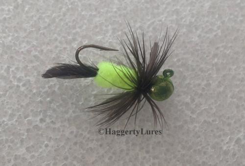 Candy Chartreuse Chicken Butt Jig.
