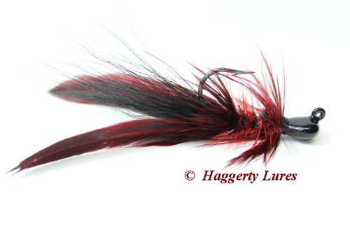 Black and Red Lunker Hagg's Hellraiser Sculpin Bugz Jig