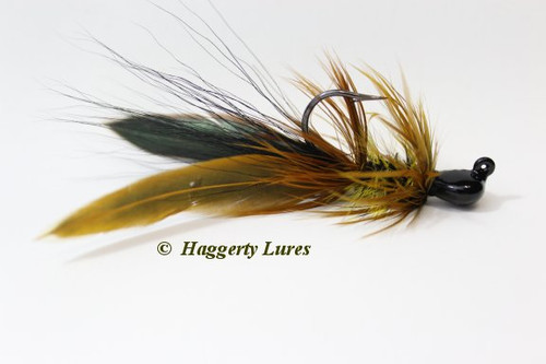 Black Golden Olive Lunker Hagg's Hellraiser Sculpin Bugz Jig