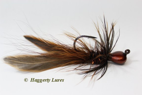 Olive Brown Candy Copper Lunker Hagg's Hellraiser Sculpin Bugz Jig.