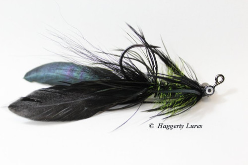 Black and Chartreuse Lunker Hellraiser Fly