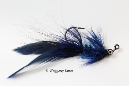 Black and Blue Lunker Hellraiser Fly