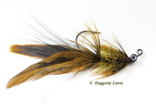 Golden Olive Lunker Hellraiser Fly