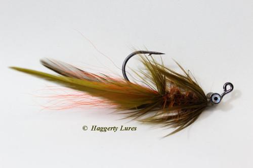 Crawdad Olive and Orange Lunker Hellraiser Fly