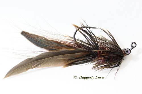 Rootbeer Brown and Copper Lunker Hellraiser Fly