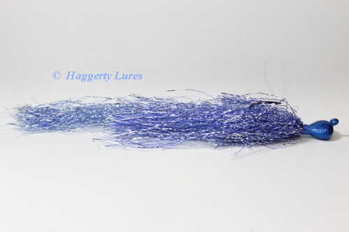 Blue and Silver blended Glitter Muskie Flash Jig.