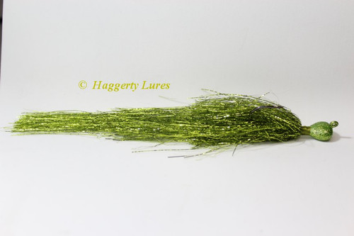 Chartreuse Glitter Muskie Flash Jig.