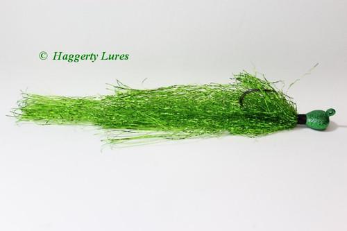 Emerald Green Muskie Flash jig.