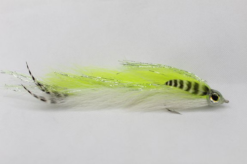 Chartreuse & White Bucktail Game Changer