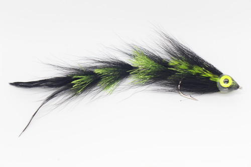 Black with Chartreuse - Bucktail Game Changer