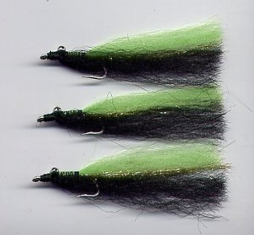 Clouser Minnow  - Black/Chartreuse 1/0 to 3/0