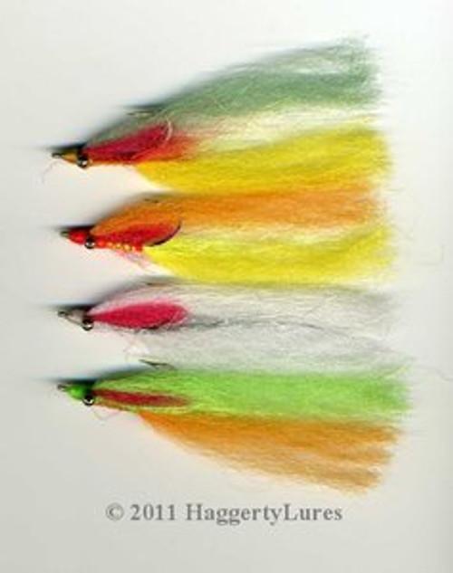Clouser Minnow Flies - Saltwater - Set of 4 Perch