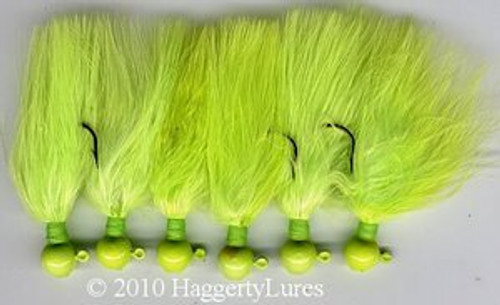 Marabou Jig Solid Chartreuse - Crappie Jig