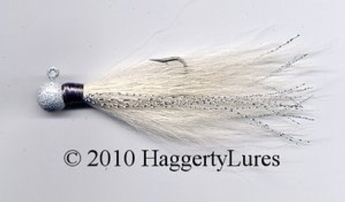 Bucktail Wobble and Round Head Jigs (White)