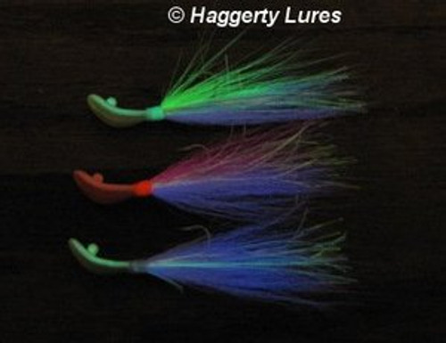 Bucktail Wobble Head Jig (Glow In The Dark)