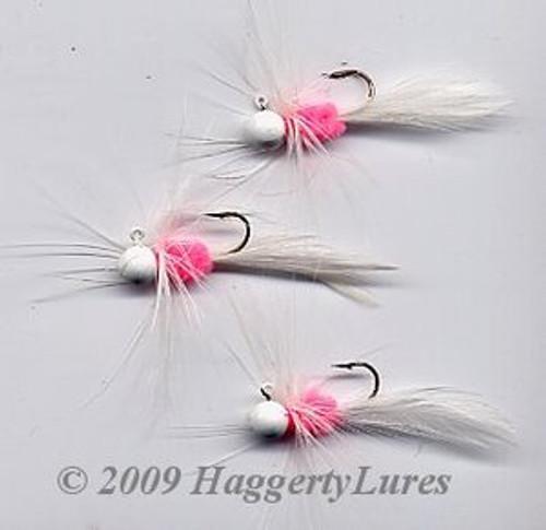 Bugz - small White/Pink panfish crappie jig