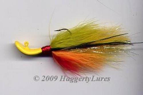 Signature Series Marabou Wobble Head Jig (Golden Perch)