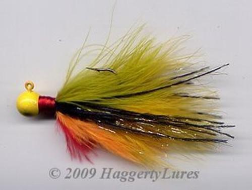 Marabou Jig - Golden Perch - Round Head Fishing Lure