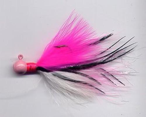 Marabou Jig - Pinky - Round Head Fishing Lure