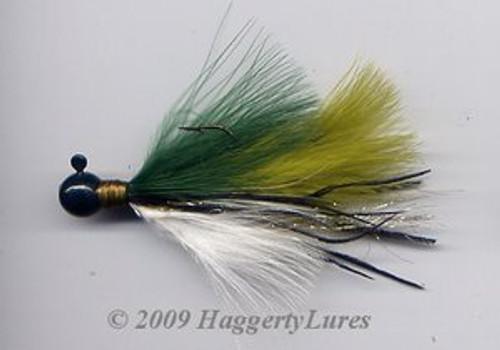 Marabou Jig - Crappie Pattern - Round Head Fishing Lure