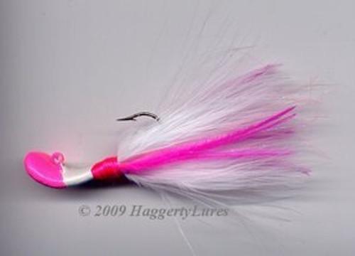 Signature Series Marabou Wobble Head Jig (Hot Pink/White)