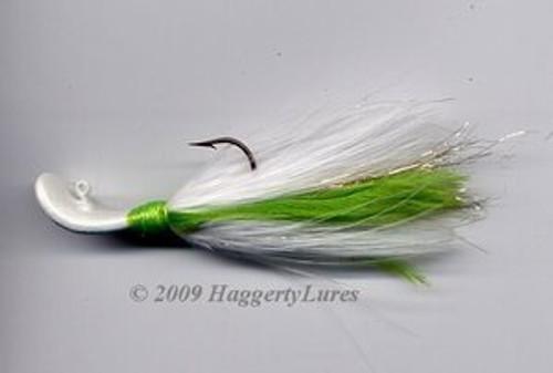 Signature Series Marabou Wobble Head Jig (Chartreuse/White)
