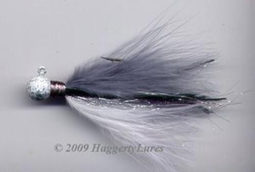 Marabou Jig - Gray Shad Signature - Round Head Fishing Lure