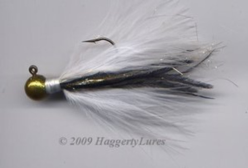 Marabou Jig - Signature Gold and White - Round Fishing Lure